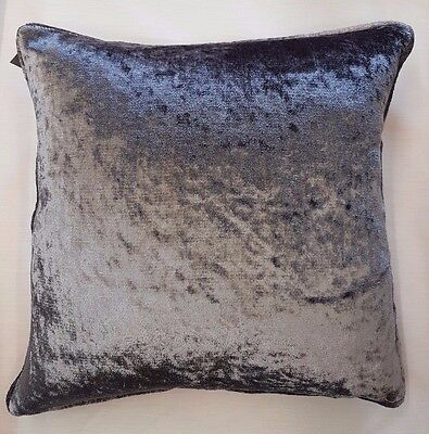 Shimmering Soft Crushed Velvet Dark Grey Cushion Cover £6.99 Each Free Postage