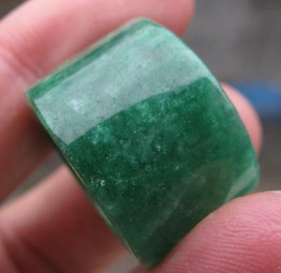 vintage natural green jade  hand carved  ring size8.5-9 antique classic jewelry