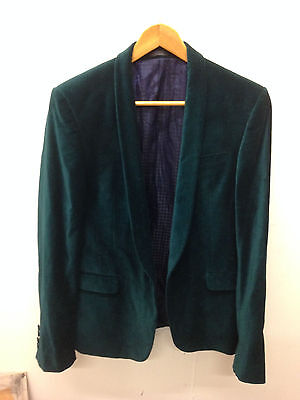 vintage mens velvet green jacket