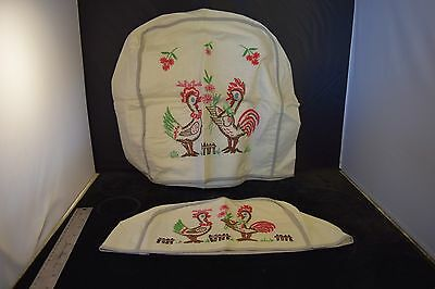 Vintage Embroidered Toaster and Mixer Cover:  Hand Embroidered