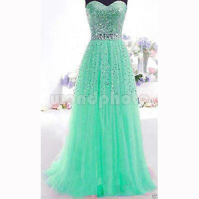 Long Bridesmaid Dress Formal Gown Ball Party Cocktail Evening Prom Maxi UK 14 16