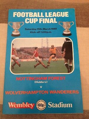 Nottingham Forest Vs. Wolverhampton Wanderers Saturday 15th March 1980 Cup Final