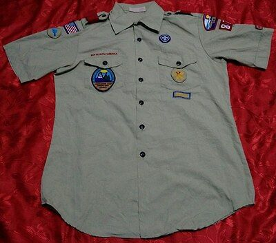 Q269 Used BSA BOY SCOUTS OF AMERICA Uniform shirts Adult MED 44""