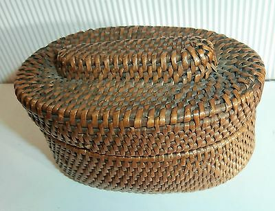 SALE LOWER PRICE/early 1900  exceptional  miniature small wicker  box  basket
