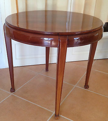 Art Deco 1930 Table Gueridon En Acajou . Rare