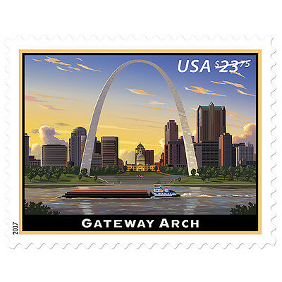 USPS New Gateway Arch  Priority Mail Express stamps pane of 4