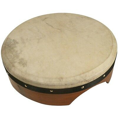 16'' Bodhran (tuneable) with case & tipper - natural skin