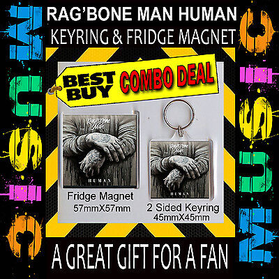 HUMAN rag'n'bone man– KEY CHAIN – 45X45MM & FRIDGE MAGNET 57X57MM COMBO DEAL#1
