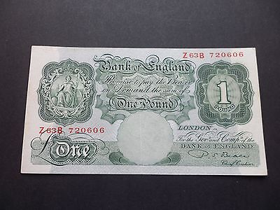 Bank Of England  £1 Pound Note - P.s.beale  Z63B 720606