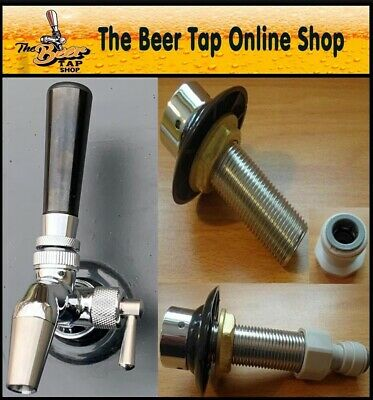 Beer Tap Intertap Flow Control Stainless Steel Faucet & Shank Kegerator Home Bar