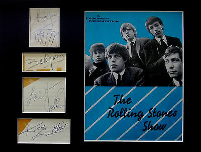 GENUINE 1960s ROLLING STONES AUTOGRAPHS signed MICK JAGGER KEITH RICHARDS