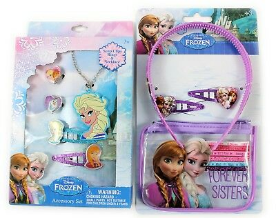 Disney Frozen Jewellery set Hair accessories Set Elsa Anna Kids Play Fancy Dress