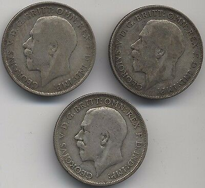 1920-1922 George V Silver Florins***Collectors***(F3)