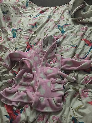 Baby Girl Dressing Gown 6-9 Months