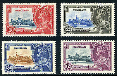 Swaziland  -  Silver  Jubilee  Stamps.