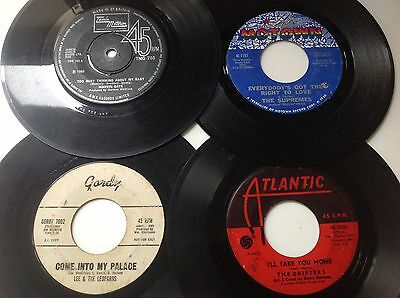 LOT OF 4 SOUL 45s inc LEE & THE LEOPARDS,DRIFTERS,SUPREMES,MARVIN GAYE.