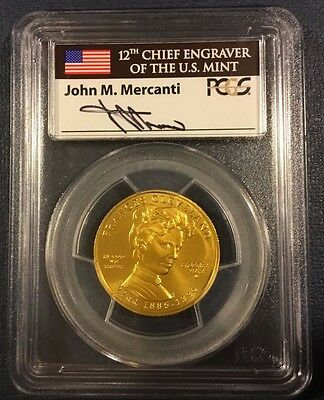 2012-W $10 Frances Cleveland 1st First Spouse Gold PCGS MS70 First Strike