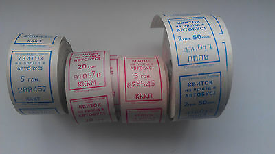 Ticket Bus Ukraine More then 2000 Pieces Rolls tickets