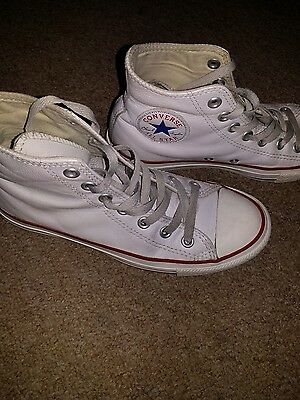 Converse All Star Chuck Taylor Uk 5 White Leather