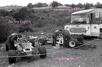 Rindt & Miles Gold Leaf Lotus F1 Team French Grand Prix 1970 Photograph