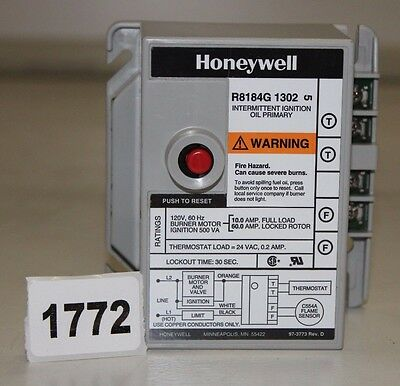 NEW OEM HONEYWELL R8184G1302 Protectorelay Oil Burner Control 30, FAST SHIPPING!