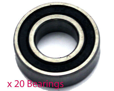 Pack of 20 x 6004RS 20mm Wheel Bearings (20mm x 42mm x 12mm)