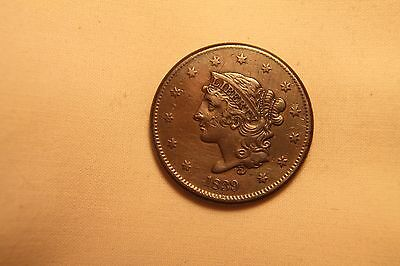 Large Us Cent 1839 Booby Head  Ef/au