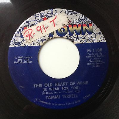 Tammi Terrell-This Old Heart Of Mine/just Too Much To Hope For-Motown M-1138.vg+