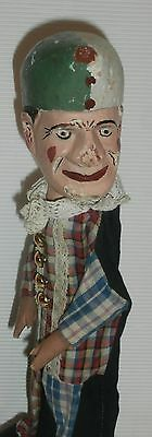 ealry  1930,s/ WOOD  WOODEN  LARGE CHARACTER  Punch  PUPPET .....