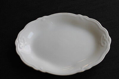 vintage Grindley Ironstone small white platter tray made in England