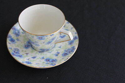 vintage Lord Nelson pansy chintz cup & saucer