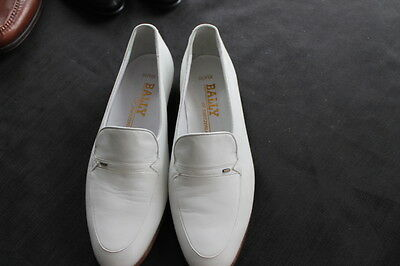 vintage pair Bally white leather men's shoes size 8