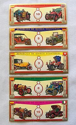 Equatorial Guinea Auto Stamps (5) (21617-42 Stamp) collectibles