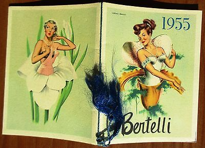 PESARO - CALENDARIETTO da BARBIERE - ANNO 1955 - BERTELLI - CALENDARIO