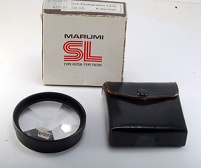 Rare Marumi 58SL TRICK PHOTOGRAPHY LENS 6 Section Filter  New Old Stock In Box