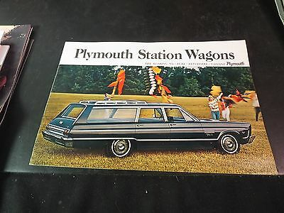 Original 1965 Plymouth Stations Wagons Sales Brochure