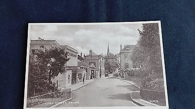 Cork Street, Frome in Somerset photo-brown postcard 1950s