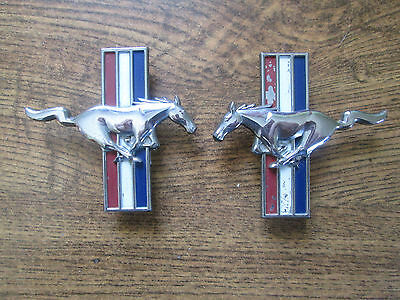 Vintage Ford Mustang Pony Emblems Set Right and Left Side