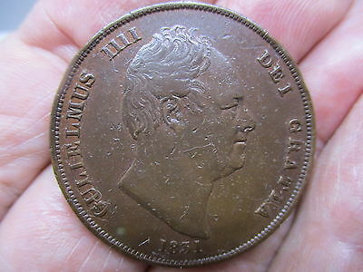 1831 King William IV penny. High Grade.