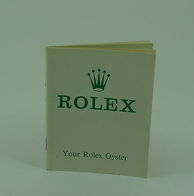 Genuine  vintage Your Rolex Oyster booklet 1969