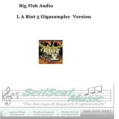 NEW BIG FISH Audio Tascam Gigasampler Giga LA Riot 5 Kits