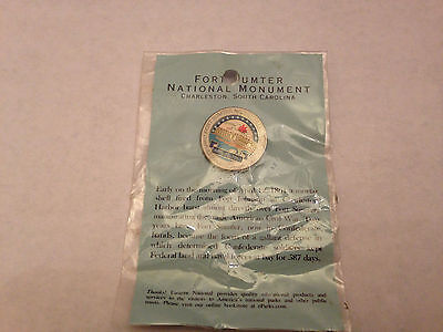 New in Package Fort Sumter National Monumnet Pin w History Card CIVIL WAR