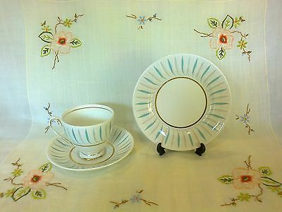 "Vintage Queen Anne ""caprice"" Trio     Cup And Saucer & Plate"