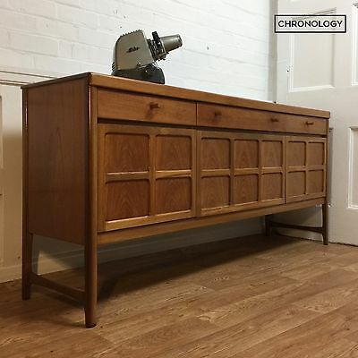 Vintage Retro NATHAN 6 FT TEAK SIDEBOARD 1970s Cabinet Mid Century Danish Style