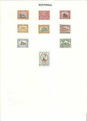 Stamps of Guatemala, early 20th century, well displayed, lightly hinged