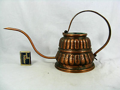 Well shaped handmade 70´s design copper watering can / Gießkanne  700 ccm