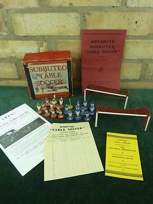 Nice vintage 1950's Subbuteo set Celluloid players seems complete boxed