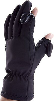 Unisex Skiing & Photography Gloves. FoldBack Fastened Fingertips with zip pocket