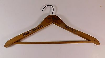 Vintage Wooden Clothes Hanger, Snappy Clothes Shop, Troy, New York