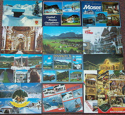 Tirol / Austria - Job lot collection of 13 postcards 1990s
